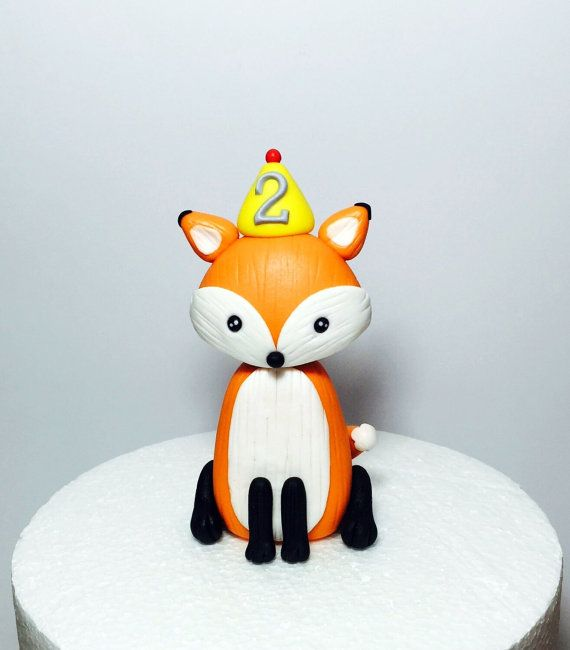 Woodland fondant animal renard bébé douche / forme de gâteau d