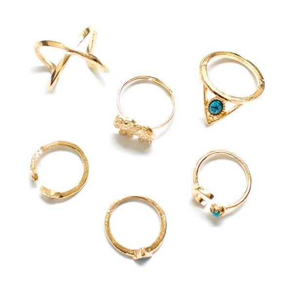 "Ringen set ""Elephant"" gold"