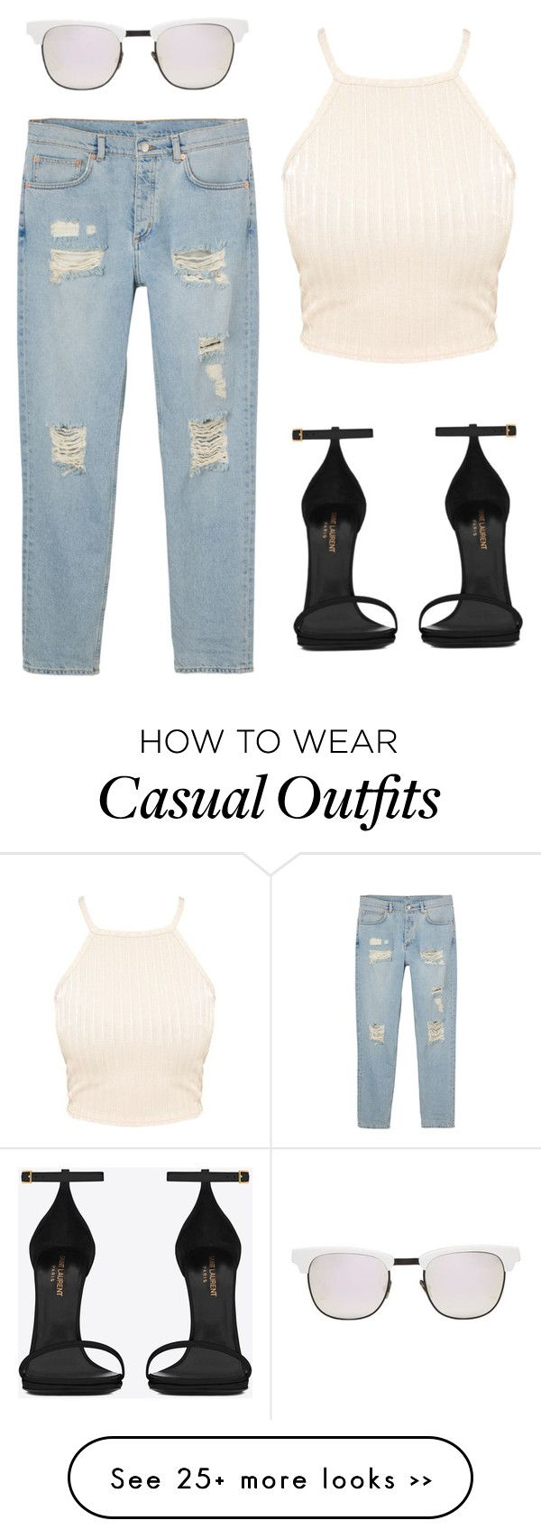 """""""Casually"""" by tv14 on Polyvore featuring Monki, Westward Leaning and Yves Saint Laurent"""