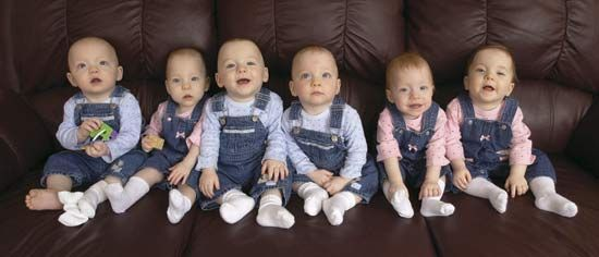 Headrick Sextuplets were born April 6, 2002 in Kansas