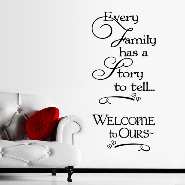 Every Family Has A Story Self-Adhesive Wall Decal