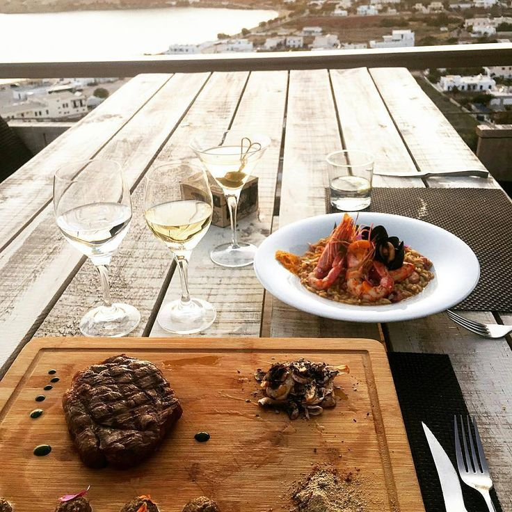 "#repost from @laurayoungg - ""Today was a good day"". Happy to oblige you,Laura! #grandmasrestaurant #liostasiios #iosisland #foodies #foodgram #instafood #sunsetview #greece #cyclades_islands #gastronomy"