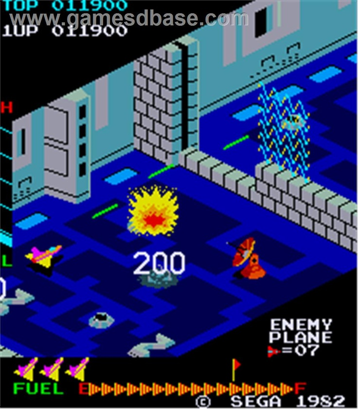 Zaxxon (1982) Old school arcade games, Classic video