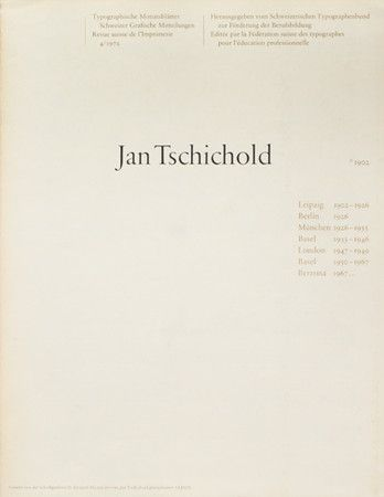 「Jan Tschichold 1925-1974」の画像検索結果