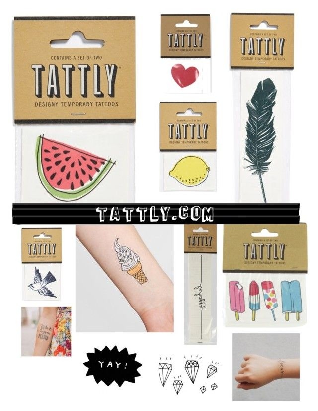"""Tattly.com"" by samantha-b872 ❤ liked on Polyvore featuring Tattly"