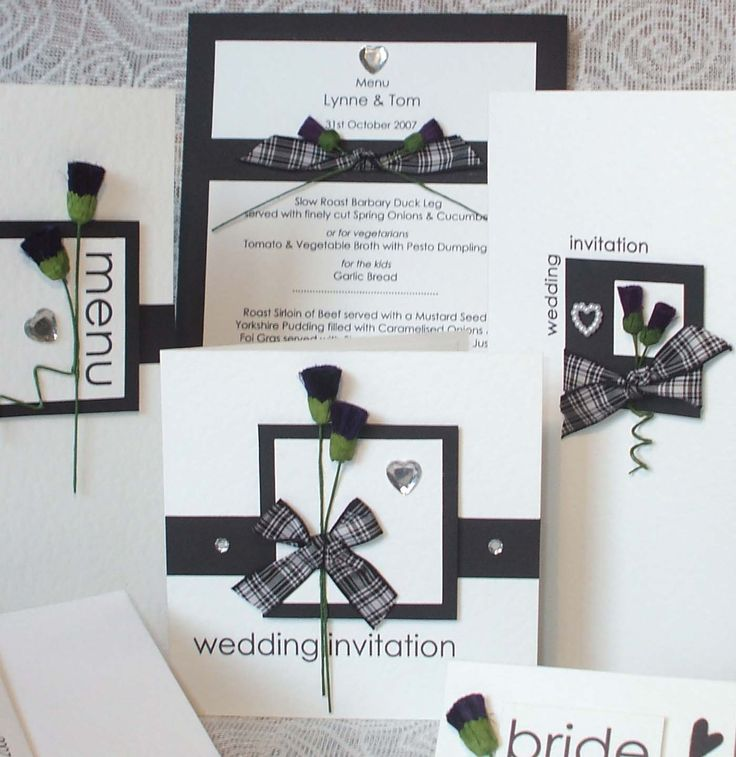 Scottish wedding invitations and more.