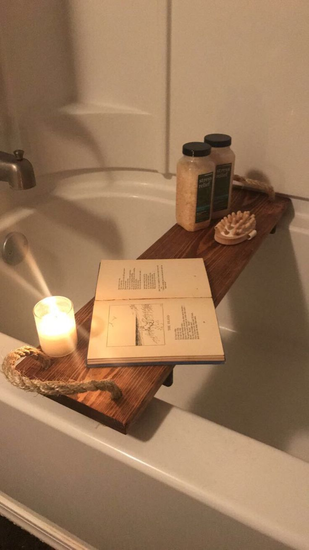 Bathtub Tray by ItIsWellWoodWorking on Etsy https://www.etsy.com/listing/510755195/bathtub-tray