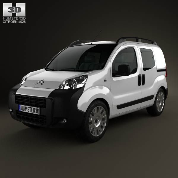Citroen Nemo Combi 2011 3d model from humster3d.com. Price: $75