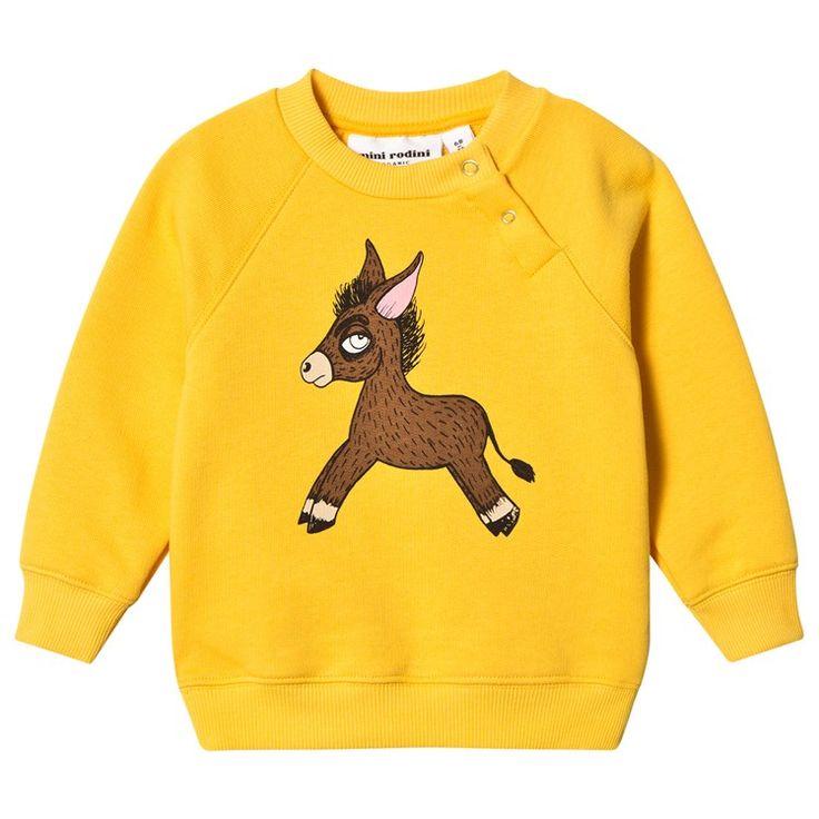 Mini Rodini Donkey Sweatshirt Yellow Yellow