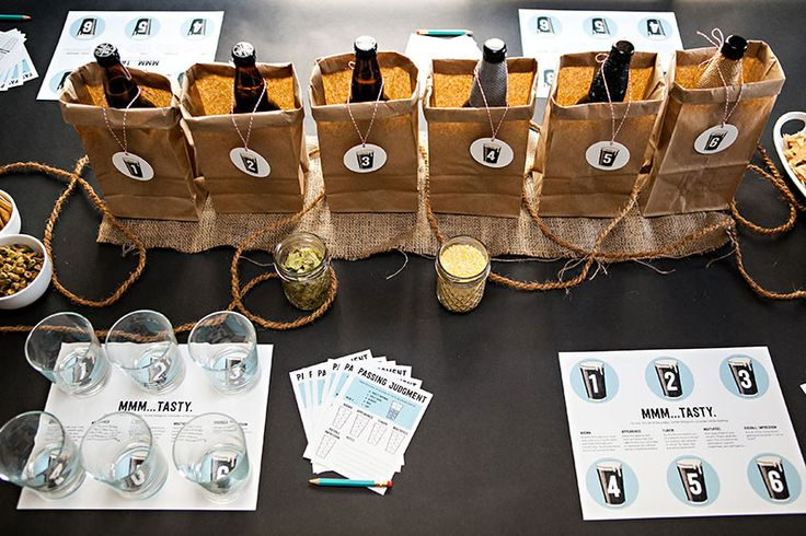 Host your own beer tasting party with this kit from Semi Sweet Press #beertasting