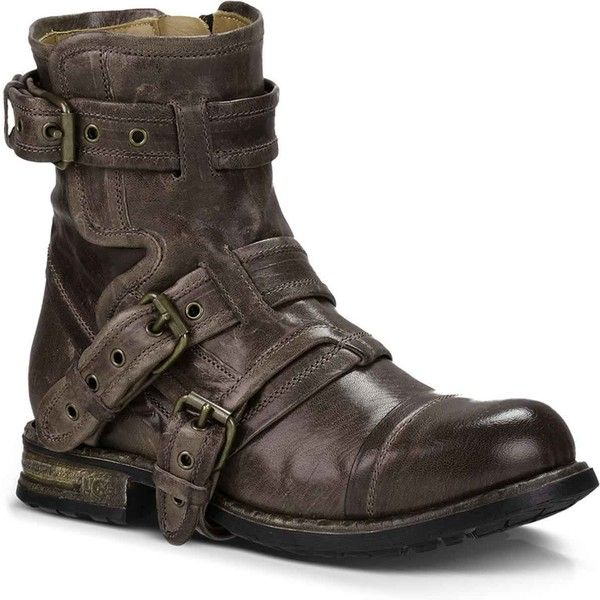 UGG Women's Elisabeta Ash Motorcycle Boots (€365) ❤ liked on Polyvore featuring shoes, boots, 20. boots., ankle boots, grey, moto boots, leather biker boots, leather boots, motorcycle boots and grey boots