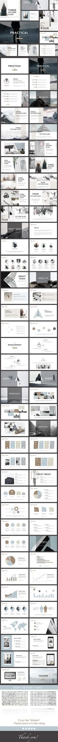 Practical - Clean PowerPoint Presentation Template. Download here: https://graphicriver.net/item/practical-clean-powerpoint-presentation/17250559?ref=ksioks