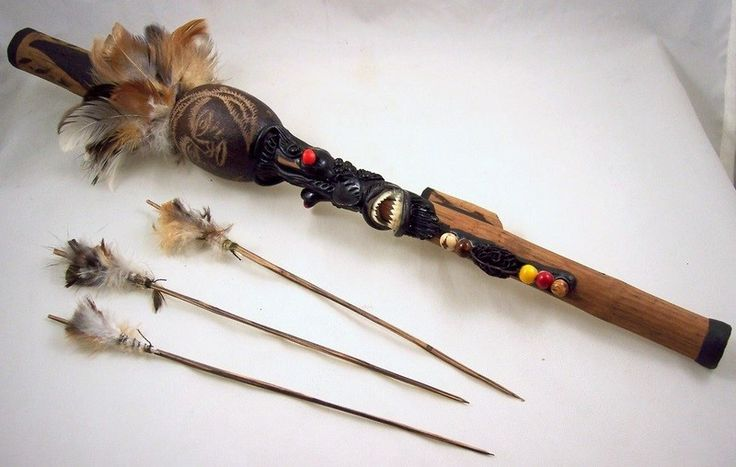 Handcrafted Novelty Blowgun - Dart Gun - made by Amazonian Indians in ...