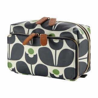 Orla Kiely Wash Bag Blue - Accessories - Bags ILLUSTRATED LIVING