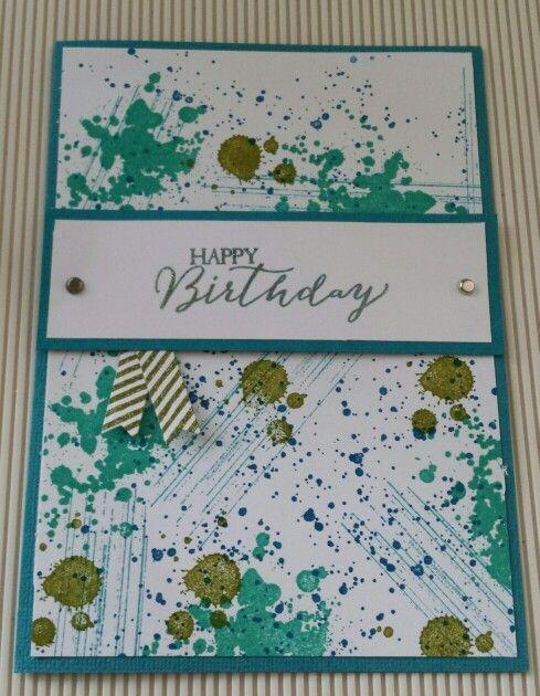 Gorgeous grunge birthday card