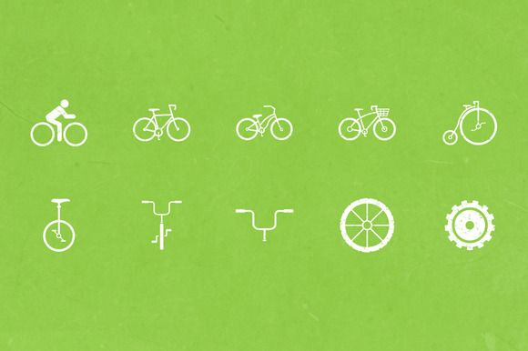 Check out Bike Icons by WarehouseIcons on Creative Market