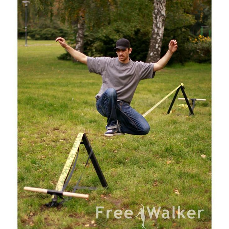 Had The Toughest Time Figuring Out How To Set Up My Slack Line With No  Mature