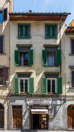 Nieuw in mijn Werk aan de Muur shop: Huis met groene luiken in #Florence