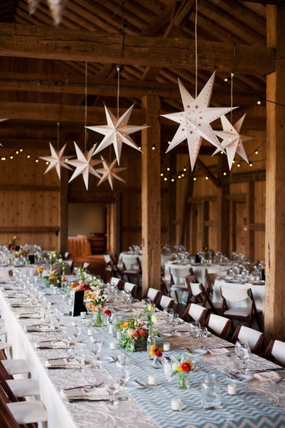 chevron and star wedding reception lust