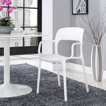 Decorate With These Modern White Dining Chairs Made Of Durable  Polypropylene Plastic And Non Marking Plastic Food Glides. No Assembly  Required And Fully ...