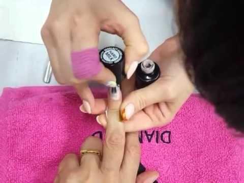 Tutorial Semilac Hard Milk: cómo agrandar el tamaño de la uña - YouTube