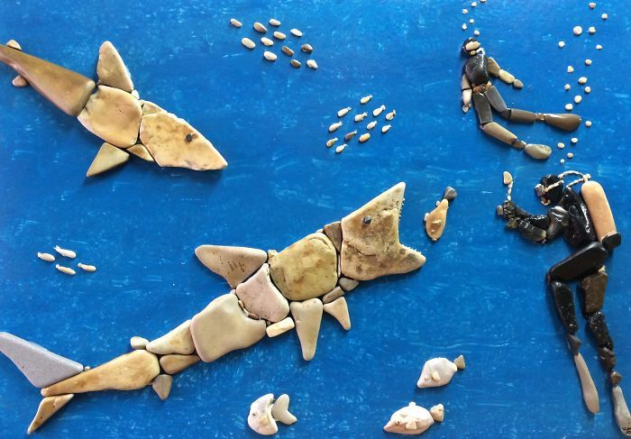 This Artists Creates Masterpieces From Stones He Finds On The Beach (12 images) | Kenga Rex | Page 12