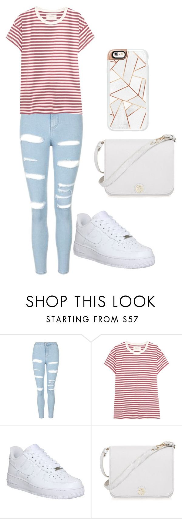 """Untitled #54"" by smolconversehighs ❤ liked on Polyvore featuring Topshop, The Great, NIKE, Furla and Casetify"