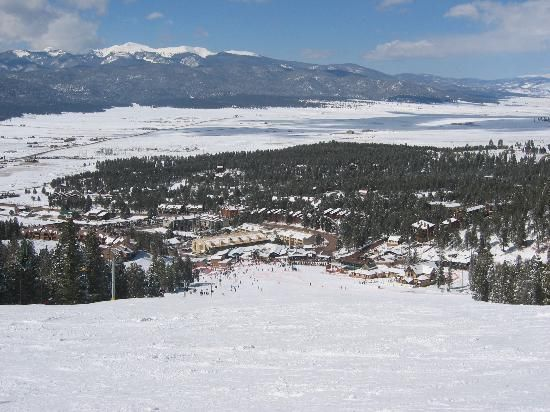 Angel Fire NM - Hope my grandaughter forgives me for this trip!!  Snowboarding did not agree with her!!