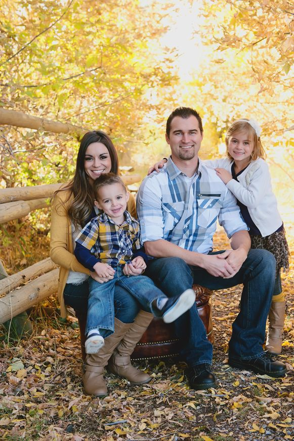 RaeTay PhotographyFamily picture outfit ideas, mustard yellow and blue outfits, creative family pictures