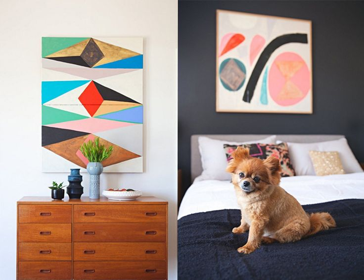 Our home on Apartment Therapy | Inaluxe fine art prints and original art