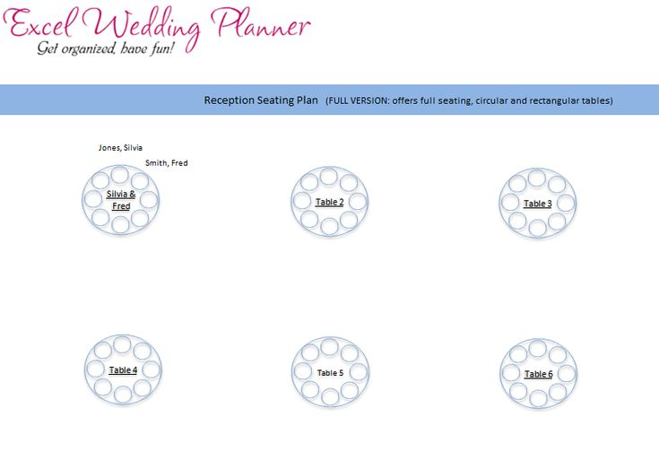 Wedding Seating Chart Template Excel | Seating chart ...