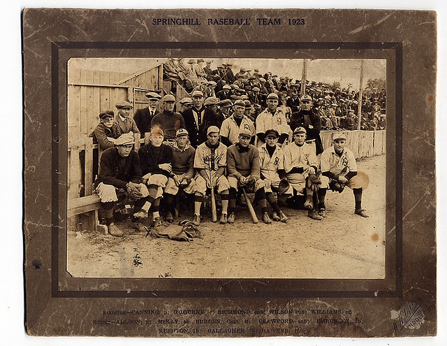1923 Springhill Nova Scotia Baseball | Flickr - Photo Sharing!