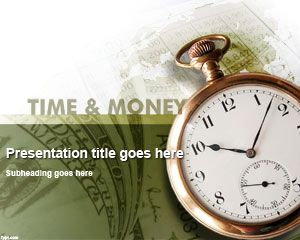 Time & Money PowerPoint Template #time management PPT presentation template