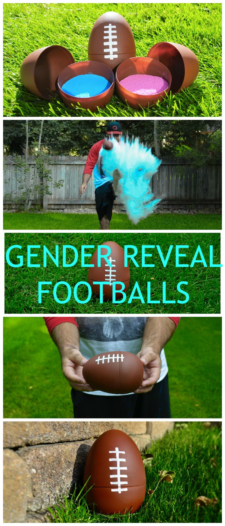 FOOTBALL GENDER REVEAL PARTY! Cute Gender Reveal Idea                                                                                                                                                                                 More