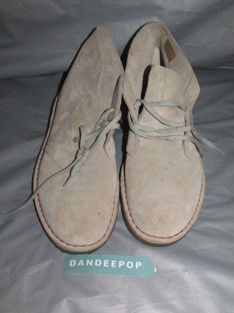 Vintage Men's Clarks  Original Desert Boot Light Tan Leather With Crepe Sole 8.5 #Clarks #Boots
