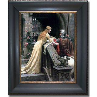 Edmund Leighton 'Godspeed' Framed Canvas Art | Overstock.com