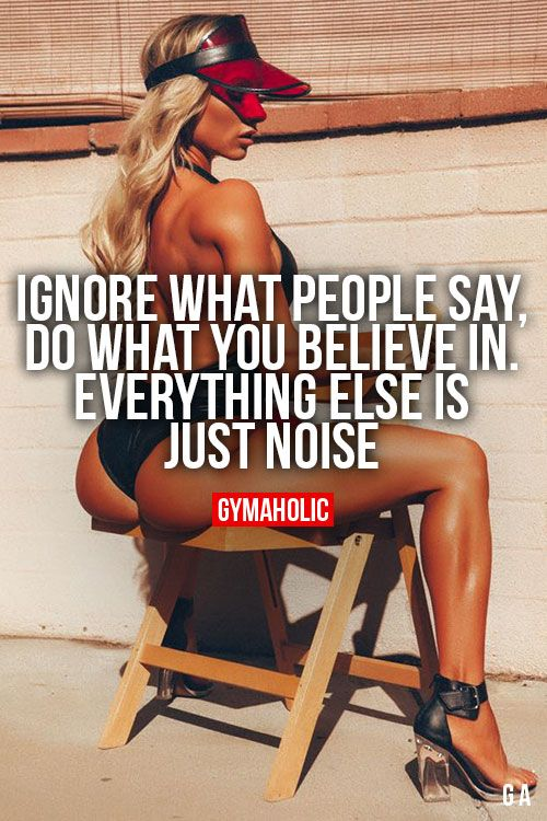 Ignore What People Say, do what you believe in. Everything else is just noise