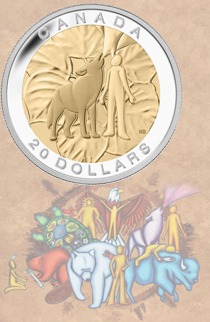 2014 $20 Fine Silver Coin - Humility: Wolf | Humility is one of the Seven Sacred Teachings that honour the traditional concepts of respect and sharing.