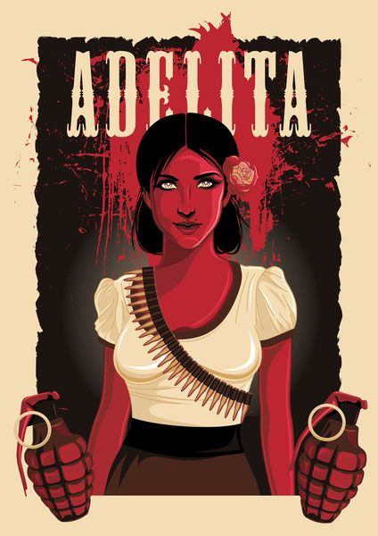 Adelita Stretched Canvas