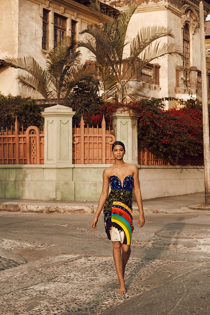Chanel iman brings the glam for bazaar russia by alexander