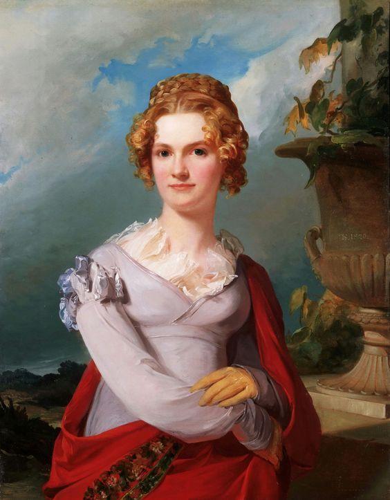 1820 Portrait of Maria Donath Koecker ~ Thomas Sully ~  (English  born American, 1783 - 1872):