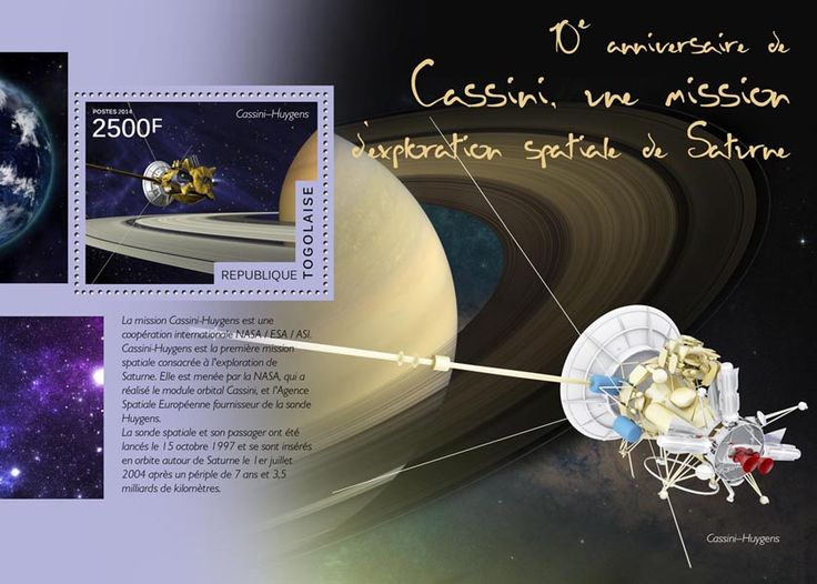TG 14503 bThe 10th anniversary of Cassini, the space exploration mission to Saturn (Cassini-Huygens)