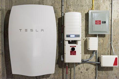 A Tesla Powerwall unit.