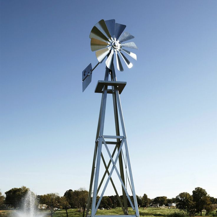 Outdoor Water Solutions Galvanized Backyard Windmill   Samu0027s Club