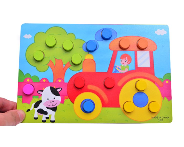 1 компл. Монтессори Деревянные Tangram головоломки настольные развивающие раннего обучения мультфильм деревянные пазлы игры детей игрушки для детей Подарки купить на AliExpress