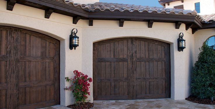 Faux Wood Garage Door | Similar to Clopay Canyon Ridge, AckueFatezzi& Martin's Chalet | Buy Carriage Style Custom Wooden Garage Doors in California