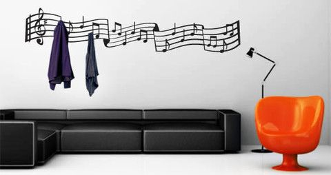 Lively music coat rack decals for your interior.  Visit this link for more designs: https://limelight-vinyl.myshopify.com/