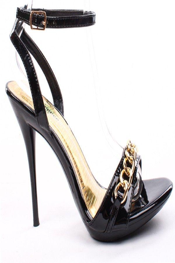 f6e86baf90e3d BLACK PATENT FAUX LEATHER OPEN TOE ANKLE STRAP HEELS,Women's Heels-Sexy  Heels,High Heels Pumps,6 Inch Heels,High Heels Shoes,Heels and Pumps.