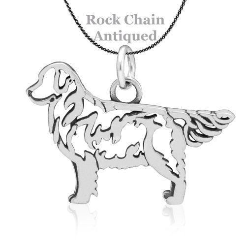 Sterling Silver Golden Retriever Pendant Body Pinterest Dog