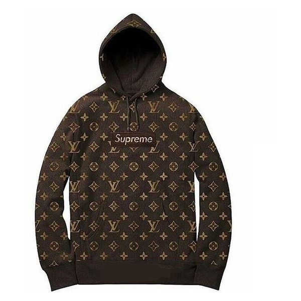 Supreme X Louis Vuitton.jpg (SupremeXLo326f.jpg) ❤ liked on Polyvore featuring hoodies and tops